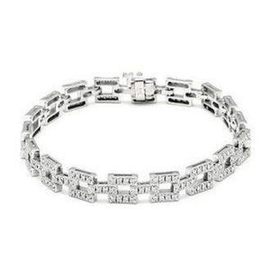 4.00 Ct small round brilliant cut diamonds Bracele